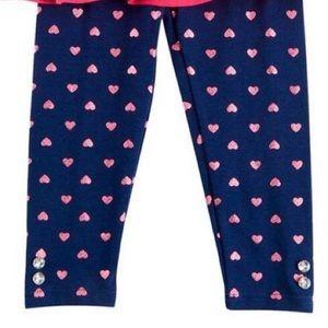 Nannette Matching Sets - Nannette Fushia Rosette Heart Top & Navy Leggings